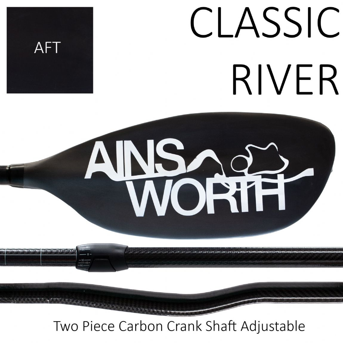 CLASSIC RIVER (AFT)  Two Piece Carbon Crank Shaft Adjustable